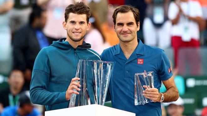 Bảng xếp hạng tennis 18/3: Thiem soán ngôi Federer, kiều nữ 18 tuổi lên 36 bậc