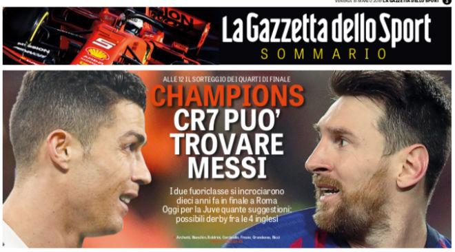Trực tiếp bốc thăm tứ kết Cúp C1: Báo Ý đoán Ronaldo sẽ đối đầu Messi