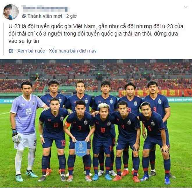 """Fan Thái không phục: Tố """"đội tuyển Việt Nam"""" bắt nạt U23 Thái Lan"""
