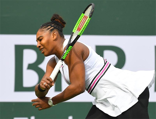Serena bỏ cuộc vì khó thở tại Indian Wells