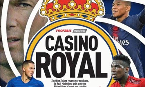 Real chuẩn bị 560 triệu đôla mua Mbappe, Pogba và Hazard