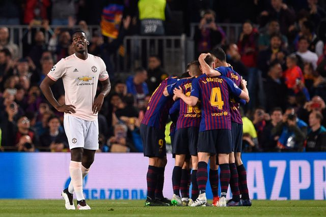 Lần đầu trong lịch sử cupps Châu Âu MU nhận thất bại nặng nề trước Barcelona
