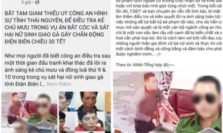 Sự thật bắt giam thiếu úy công an chủ mưu trong vụ nữ sinh giao gà Điện Biên