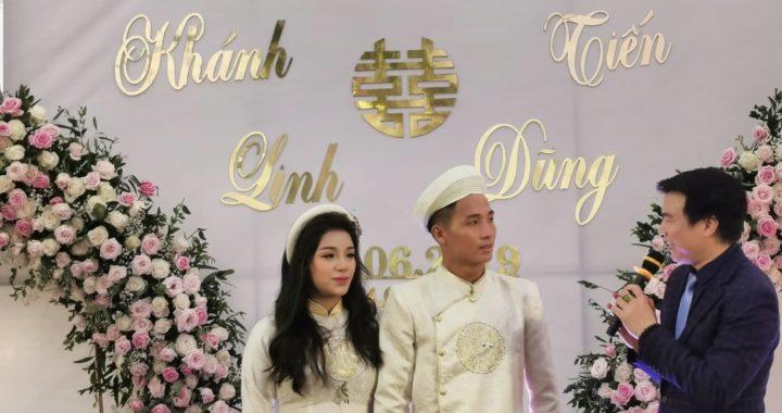 Bất ngờ với đám hỏi hoành tráng của Bùi Tiến Dũng và hot girl Khánh Linh