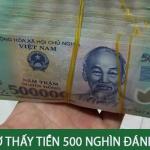 Nằm mơ thấy tiền 500 nghìn số mấy? Mơ thấy tiền 500 nghìn là điềm gì?